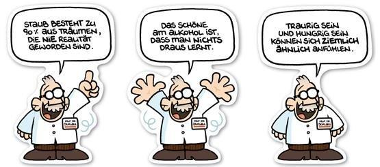 Das PROF. DR. SCHLAU - Aufkleberset