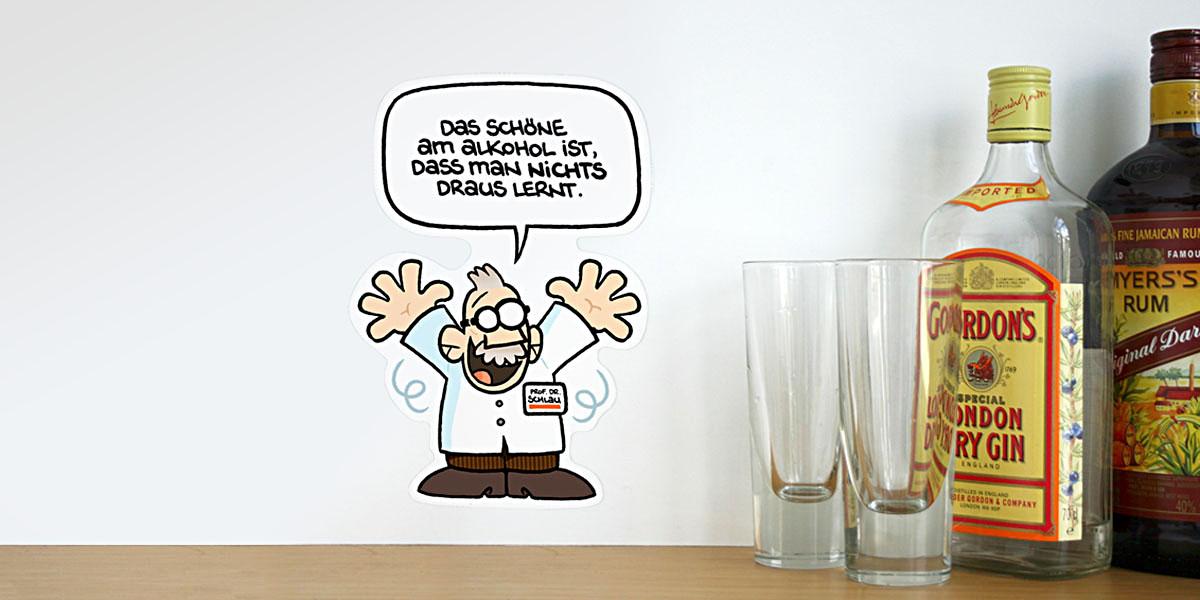 Prof. Dr. Schlau Aufkleber